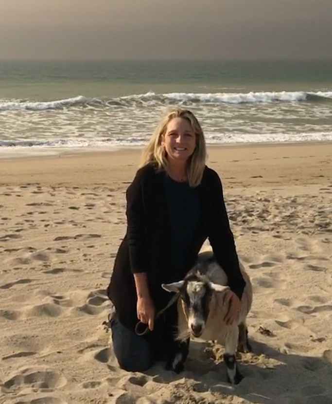 Kerri Sengstaken, jacob goat, oxnard beach