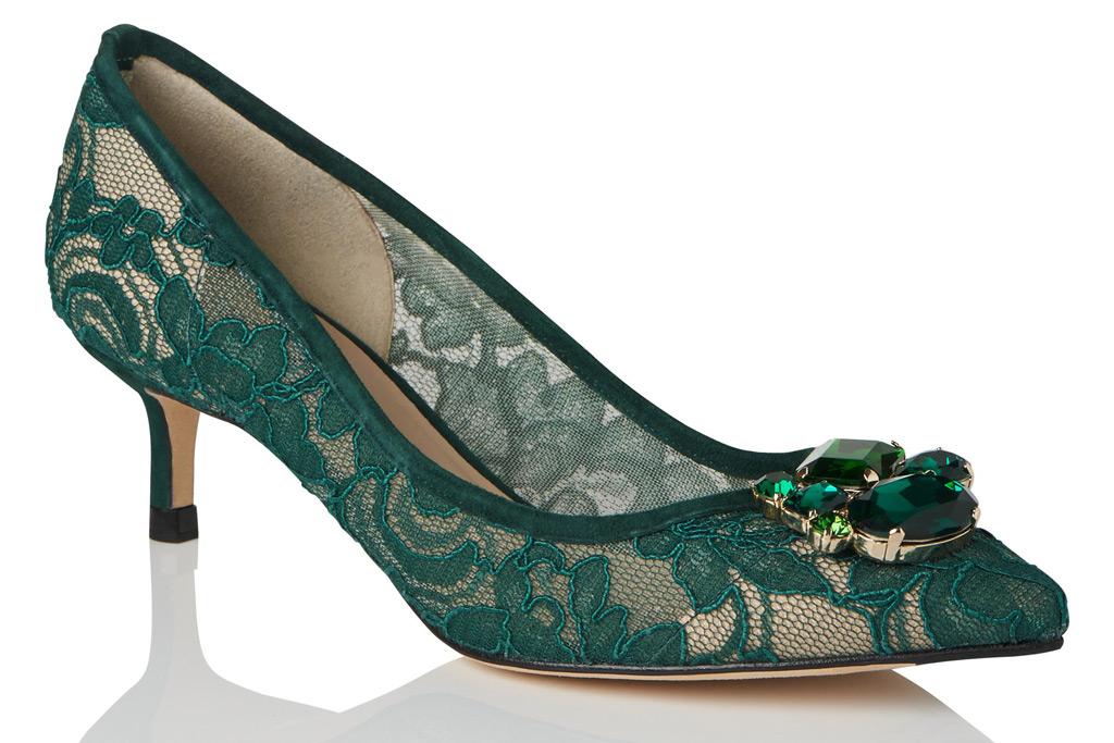 L.K. Bennett, Green lace heel