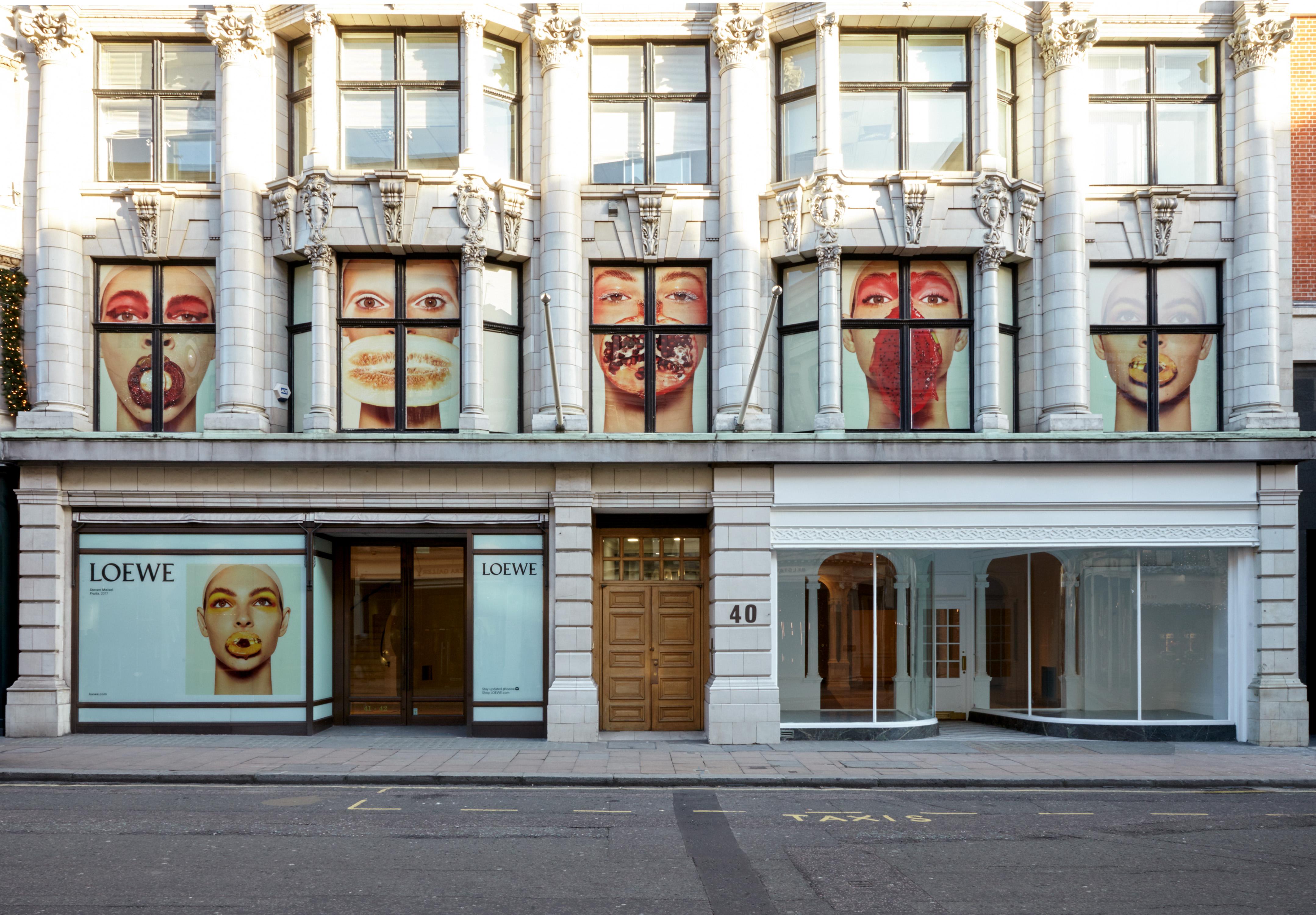 The new Loewe store location on New Bond Street, London