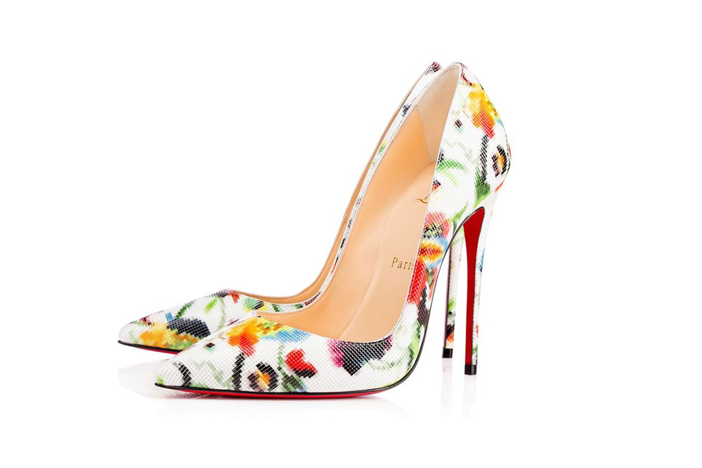 christian louboutin floral mosaic pumps, melania trump, celebrity style