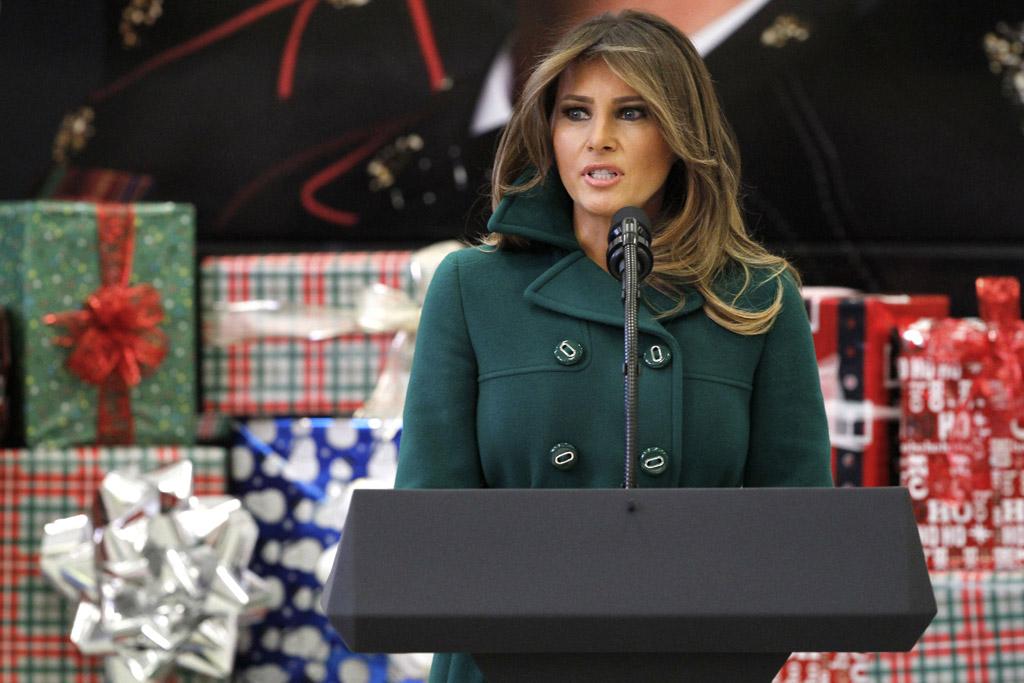 Melania Trump Gianvito nude Rossi Boots toys for tots