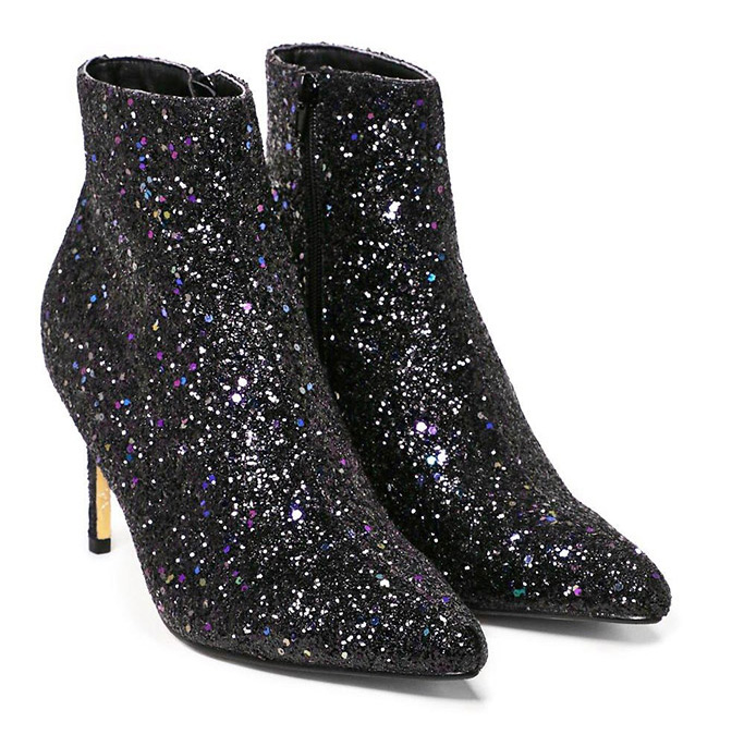 Nasty Gal glitter booties