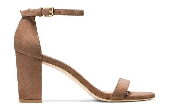 Stuart Weitzman Nearly Nude sandals.