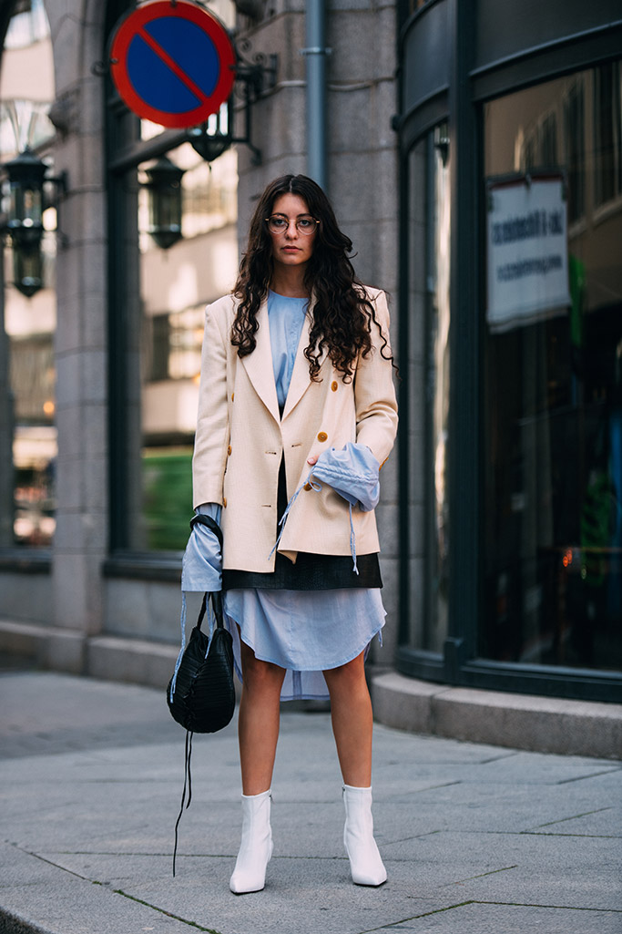 best street style, 2017, oslo fashion week, white booties