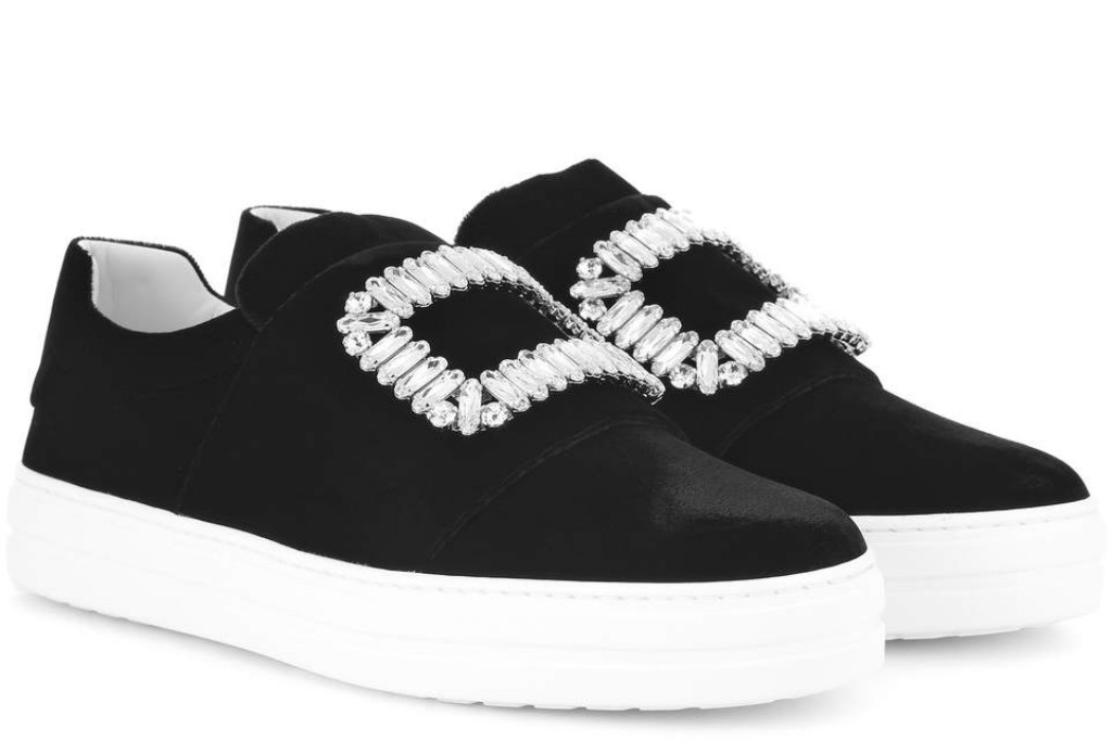 roger vivier Sneaky Viv' embellished velvet sneakers