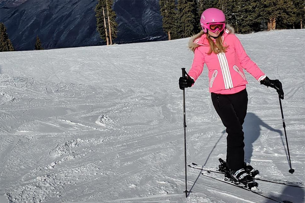 Paris Hilton Pink Ski Outfit