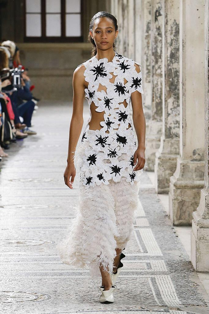 Model on the catwalk Proenza Schouler show, Runway, Fall Winter 2017, Haute Couture Fashion Week, Paris, France - 02 Jul 2017