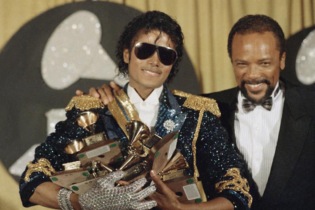 Quincy Jones and Michael Jackson grammys