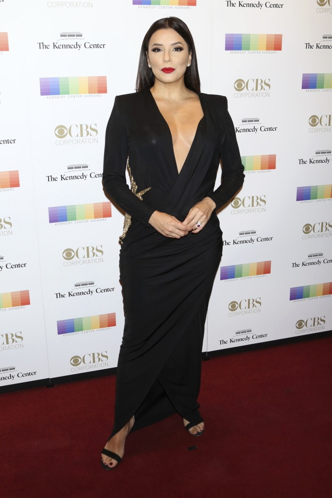 Eva Longoria attends the 40th annual Kennedy Center Honors.