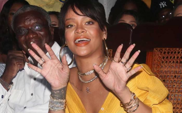 Rihanna celebrates Barbados Independence Day wearing yellow.
