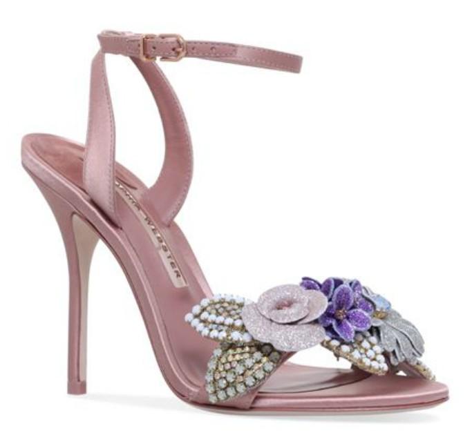 Sophia Webster Satin Lilico Emebllished Sandals