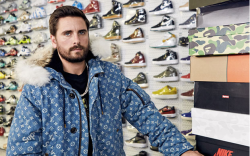scott disick, jacket, complex sneaker shopping