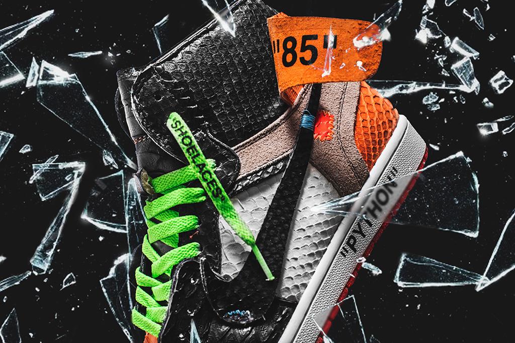 The Shoe Surgeon python Off-White Shattered Backboard Air Jordan 1