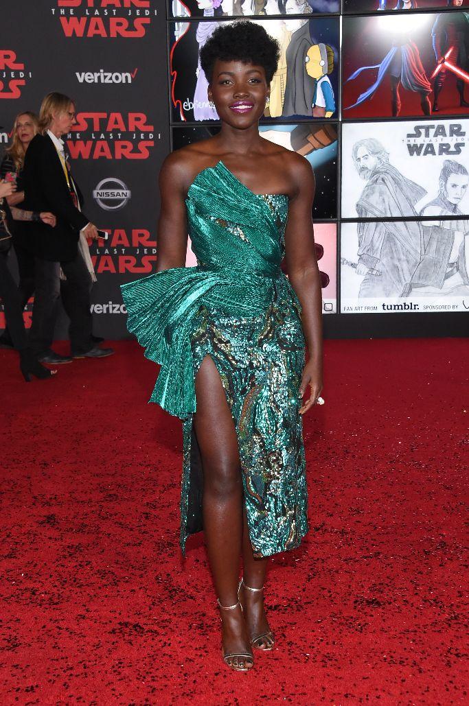 Lupita Nyong'o, star wars premiere