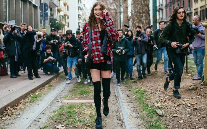 thigh high socks, fashion week