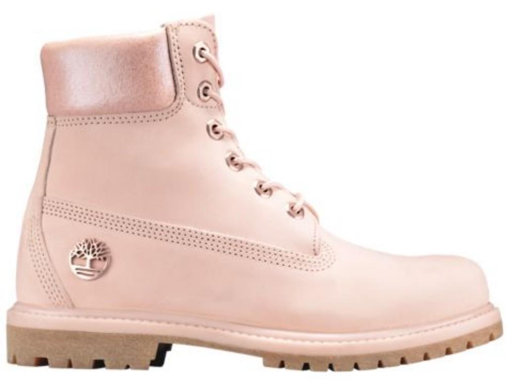 nubuck light pink timberland 6 inch premium waterproof boots