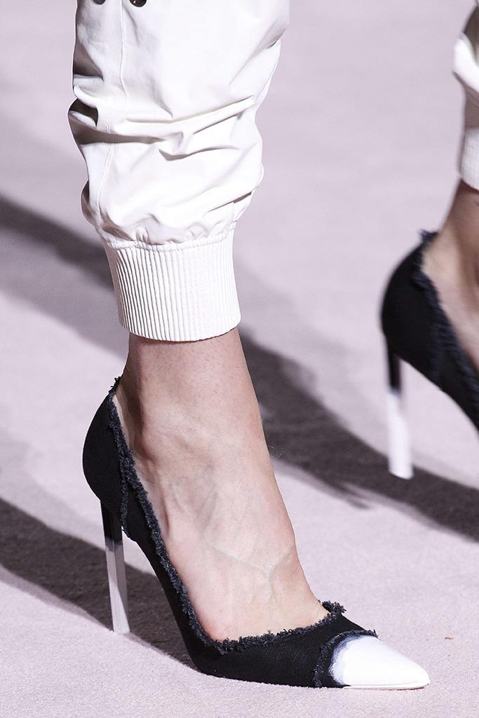 Model on the catwalk, shoe detailTom Ford show, Detail, Spring Summer 2018, New York Fashion Week, USA - 07 Sep 2017