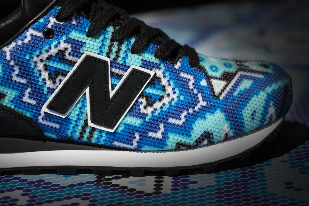 Ricardo Seco x New Balance beaded sneaker