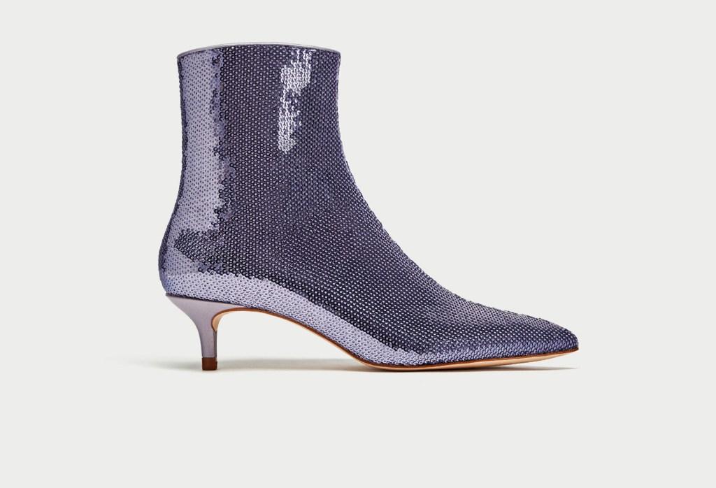 Zara sequin bootie