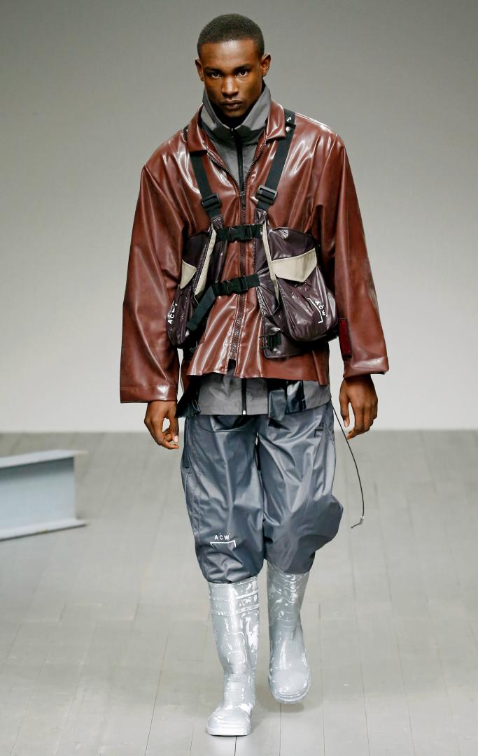 a-cold-wall rain boots, a-cold-wall fall 2018, runway, london men's fashion week