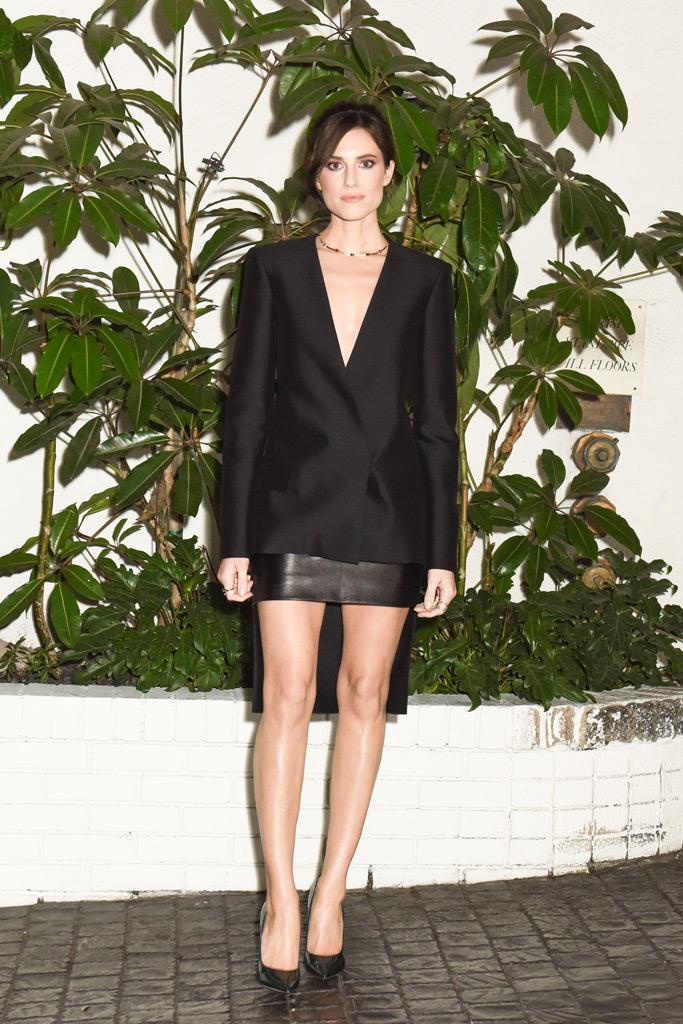 Allison Williams, W Magazine pre golden globes party, minidress, pumps