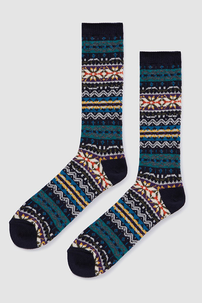 AnonymousIsm Fairisle Crew Socks