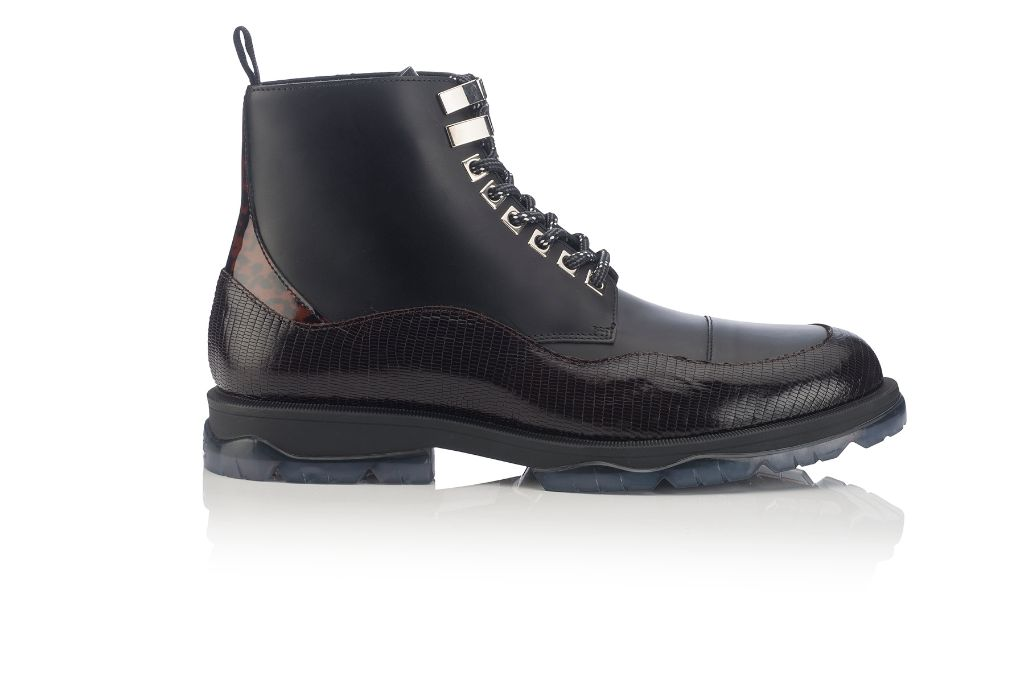 jimmy choo hiker boot, jimmy choo fall 2018 men's collection