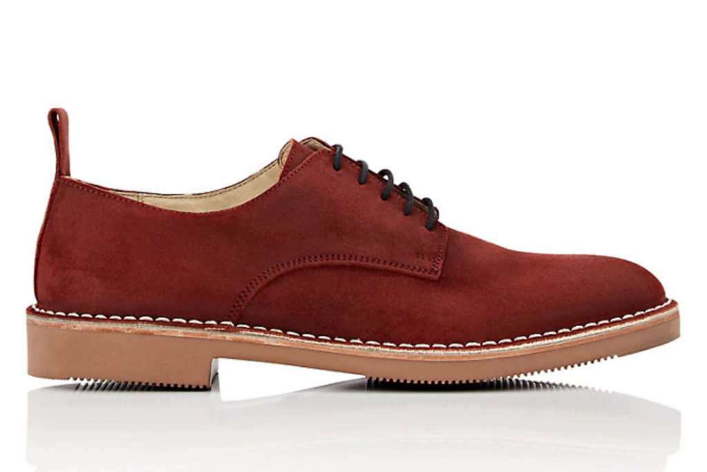 Barneys New York Oiled Suede Bluchers
