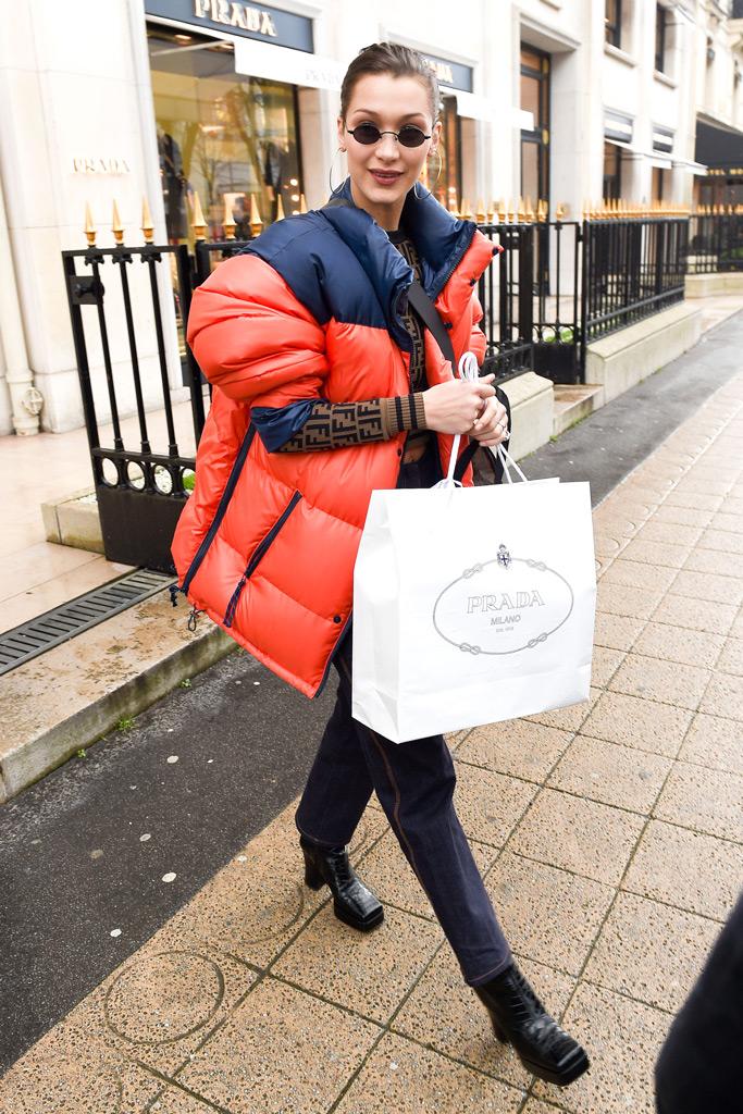 Bella Hadid, prada , paris fashion week