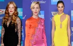 Jessica Chastain, Saoirse Ronan, Gal Gadot,
