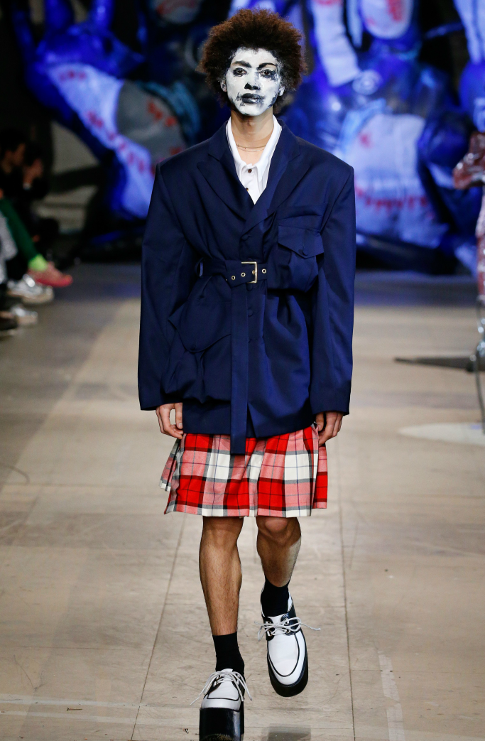 charles jeffrey loverboy, fall 2018, london men's fashion week, runway, platform brogues