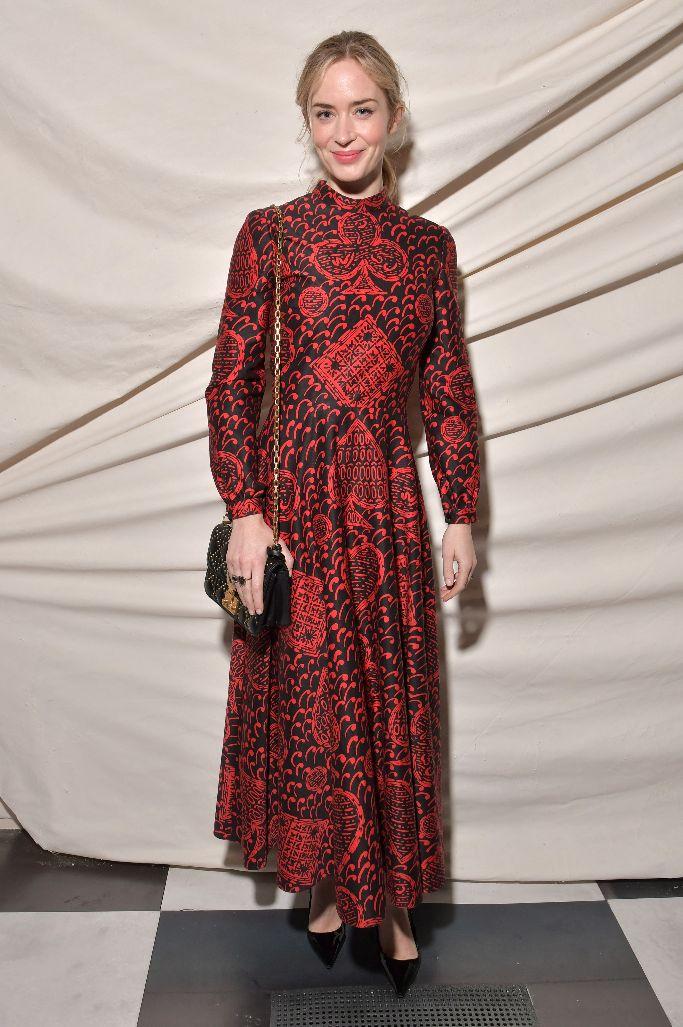 emily blunt, christian dior spring 2018 haute couture, paris fashion week