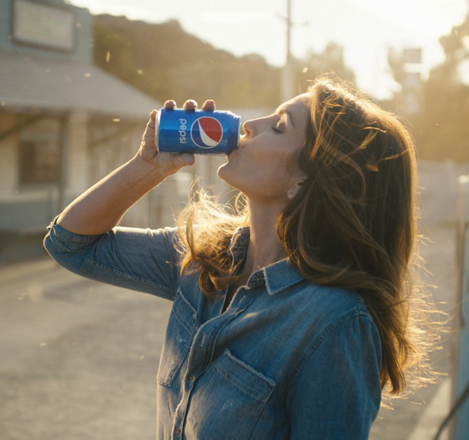 Cindy Crawford in 2018 Pepsi commercial