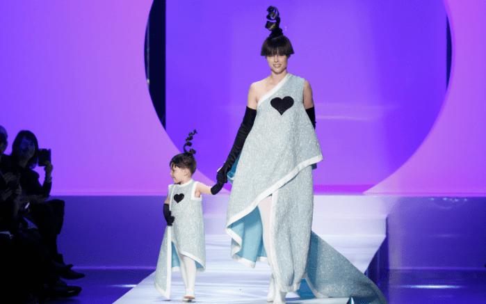Jean Paul Gaultier Spring 2018 , coco rocha, coco rocha daughter, haute couture fashion week,