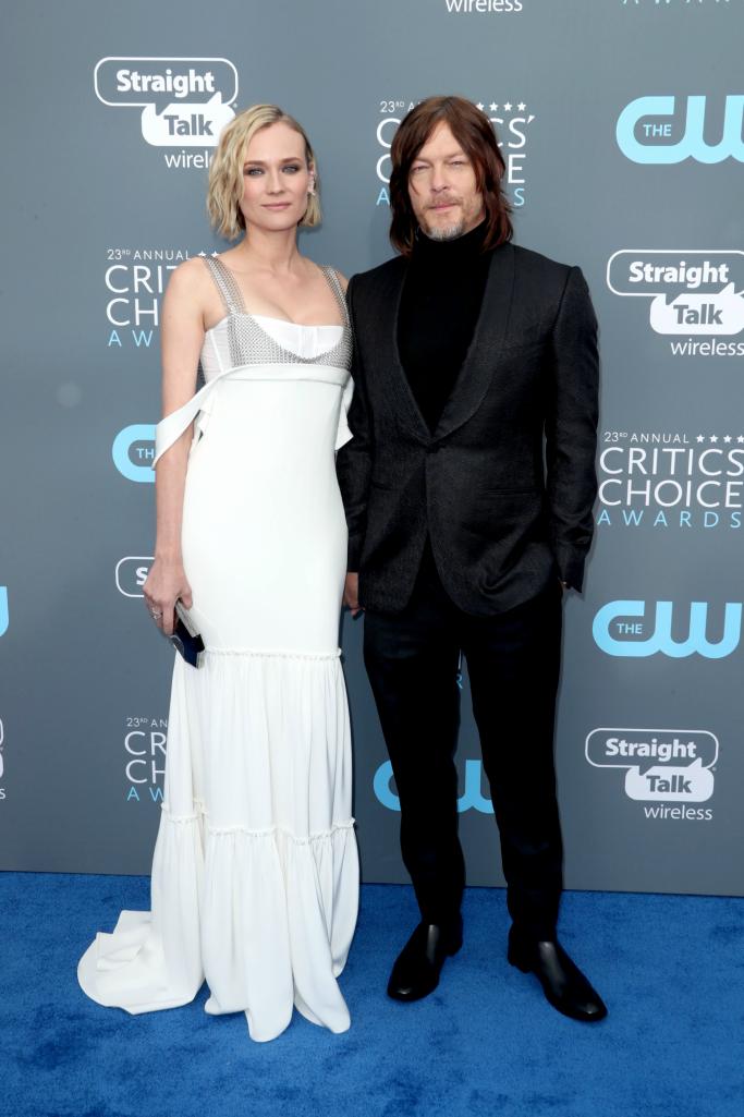 Diane Kruger and Norman Reedus, christian louboutin, critics choice awards