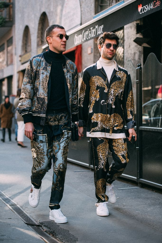 dolce and gabbana sneakers, milan men's fashion week street style