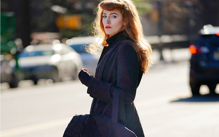 Blake Lively filming in New York.