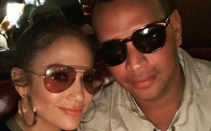 Jennifer Lopez and Alex Rodriguez share a selfie on Instagram.