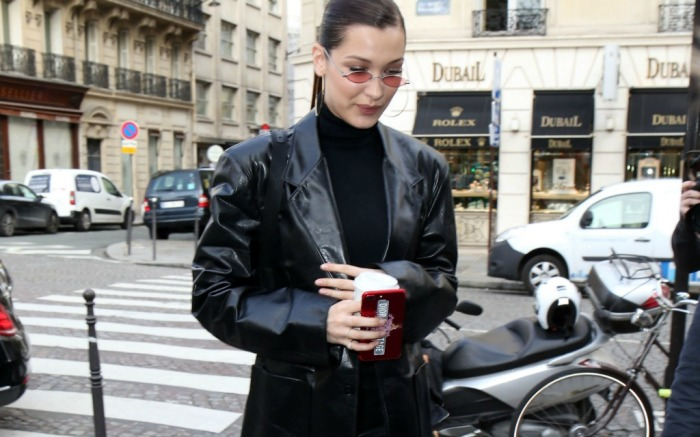 Bella Hadid attends Haute Couture Fashion Week in Paris.
