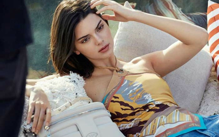Kendall Jenner stars in Tod's spring '18 campaign.