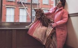 Gigi Hadid Styles Millennial Pink Coat