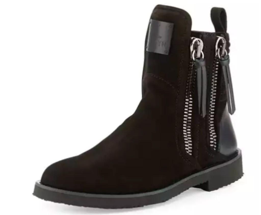 Giuseppe Zanotti x Zayn Men's Suede Double-Zip Ankle Boot