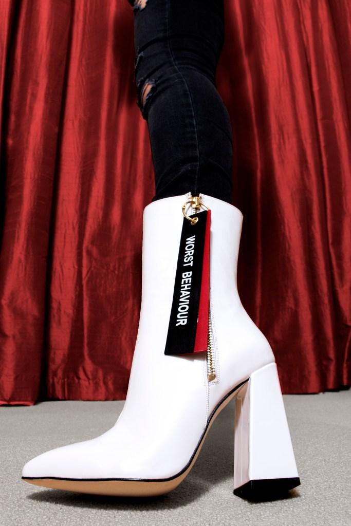 "Havva Mustafa spring 2018 ""Wors Behavior"" boots"