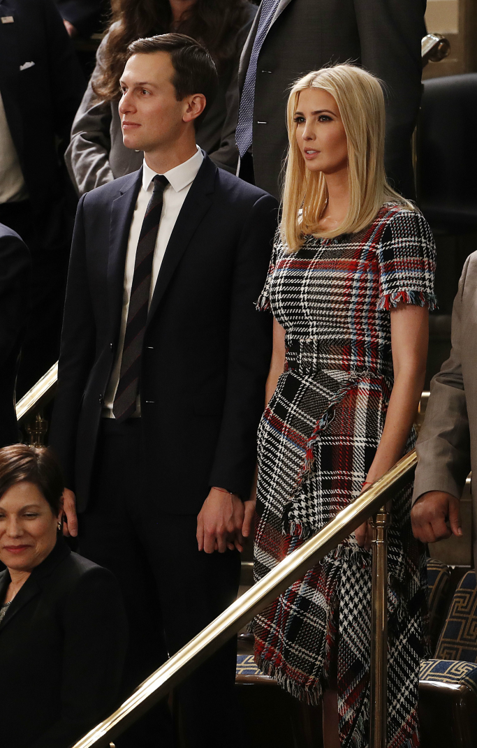 oscar de la renta tweed dress, ivanka trump, state of the union