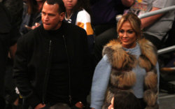 Jennifer Lopez and Alex Rodriguez, lakers