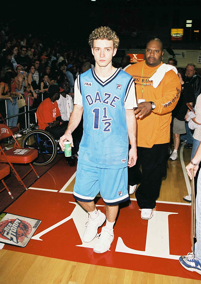 Justin Timberlake, 2000, basketball game