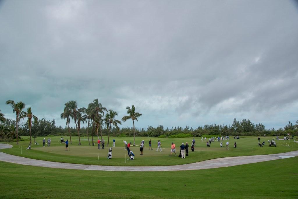 Golfers at the Bahamas Great Exuma Classic.
