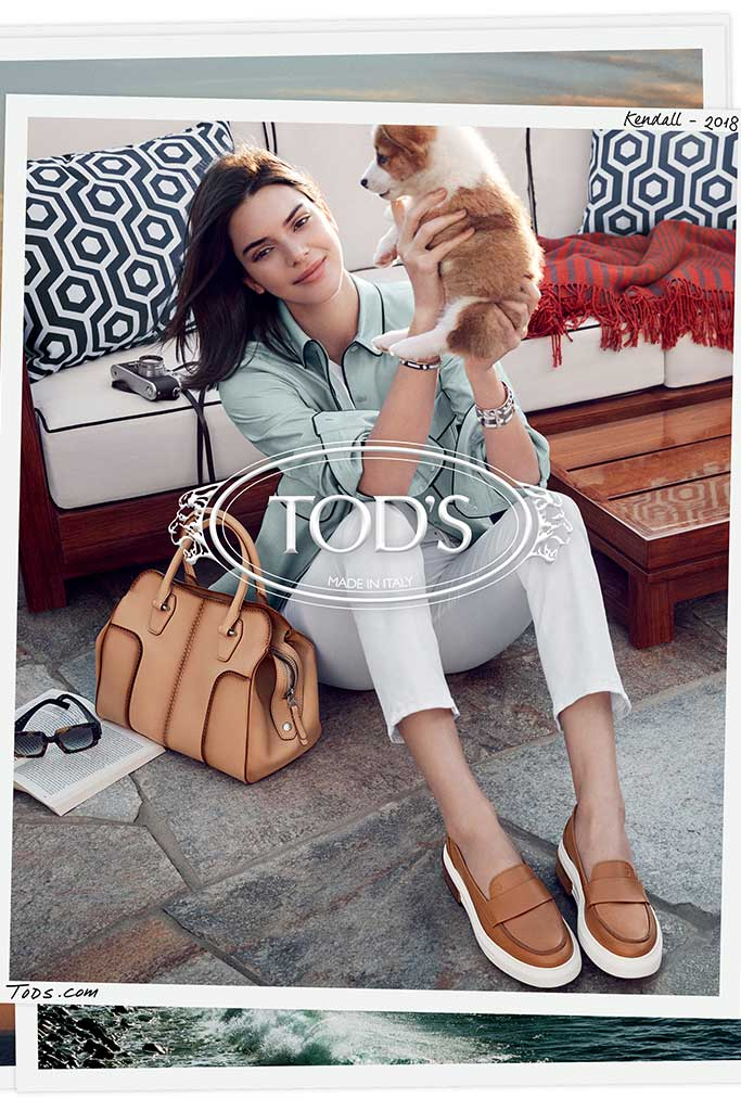 Kendall Jenner stars in in the Tod's spring 2018 campaign.