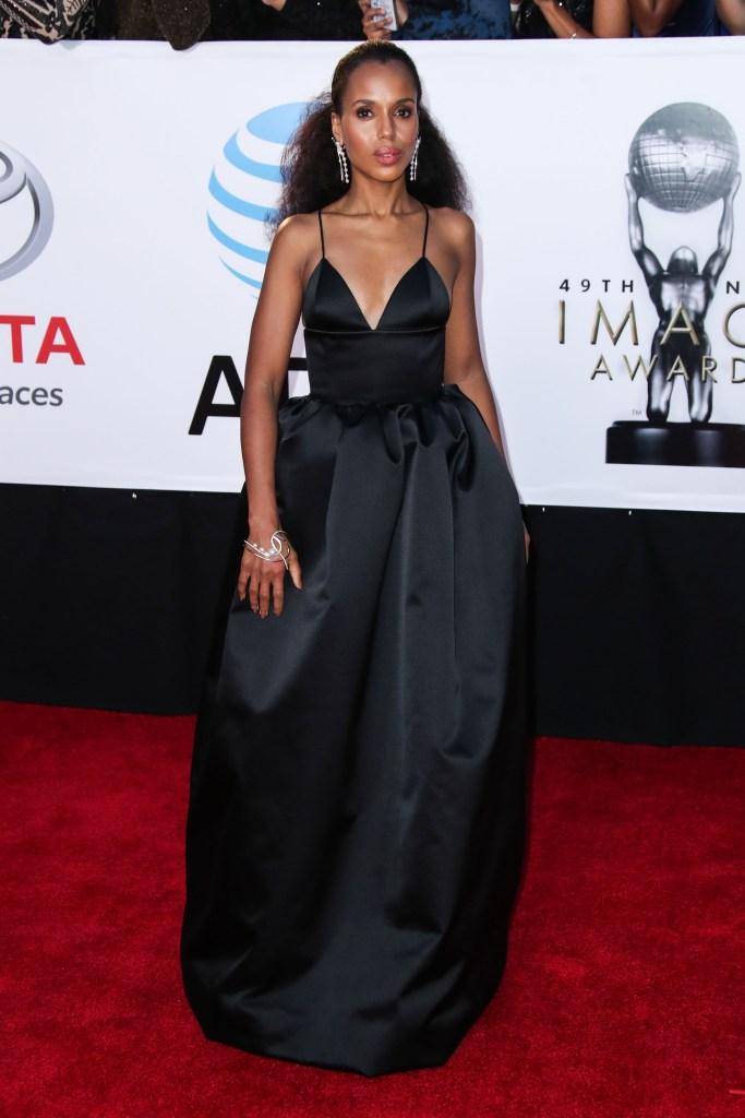 Kerry WashingtonNAACP Image Awards, Arrivals, Los Angeles, USA - 15 Jan 2018 WEARING MICHAEL KORS