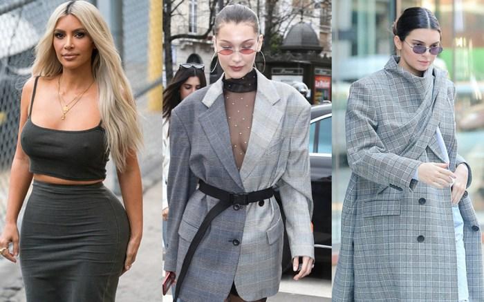 Kim Kardashian, Bella Hadid, Kendall Jenner